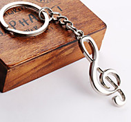 Unisex alloy key chain notes key chain