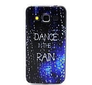 COCO FUN® Walking In The Rain Pattern Soft TPU Back Case Cover for Samsung Galaxy Core Prime G360/G3608