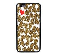 caso duro del diseño del corazón pc de oro y rojo para el iphone 6