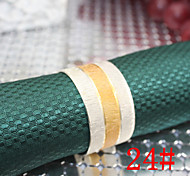 6Pcs 25mm Iron Middle Gold  Matte  Napkin Rings