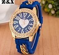 Women's Fashion Heart Diamond Chain Quartz Analog Bracelet Watch(Assorted Colors) Cool Watches Unique Watches