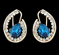 2015 New Style Two Color Shining Rhinestone Women Stone Earrings