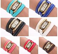 Femme Quartz PU Bande bracelet