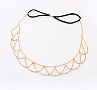 European Style Fashion Personality Exaggerated Metal Headband