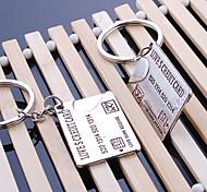 Unisex Alloy Wedding/Casual Keychain Card Valentine's Day Key Chains 1 Pair