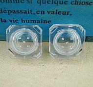 simples cristaux cantact transparente Lens Case 1 paire