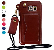 Special Design Colorful PU Leather Luxury Ultra Leather Cover forSamsung Galaxy S6 (Assorted Colors)
