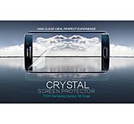 cristal nillkin filme claro anti-impressão digital protetor de tela para S6 galáxia borda