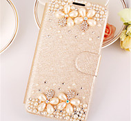 PU Leather Graphic  Diamond Look Full Body Cases Jewel Covered Cases Cases with Stand For Samsung Galaxy A3