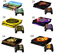 Vinyl Skin for Gaming Console and Free Controller Sticker Decal for PS4