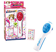 Electronic Microphone With Music and Lovely Sticker for Kids