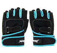Cycling Gloves Fingerless 1520202 Fashion Outdoor Sports Anti-slip Half-finger Gloves - Black + Blue (Size M L XL)