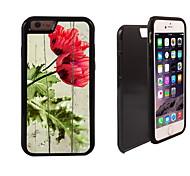 rosa fioritura modello 2 in 1 ibrido armatura caso sottile di tutto il corpo a doppio strato di shock-protezione per il iphone 6 più