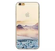 снег видом на горы узор акриловый жесткий футляр для Iphone 6