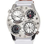 Herrenuhr ein Militäruhren dekorative Thermometer Kompass Band Uhren 2 Zeitzone