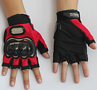 Motorcycle Anti-skidding Gloves Short Finger/ Leisure Sports /Polyester/ Cloth/Soft Leather M/L/XL/XXL Red/Black/Blue