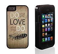 fai quello che ti piace di design 2 in 1 ibrido armatura caso sottile di tutto il corpo a doppio strato di shock-protezione per il iphone