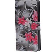 Vivid Flowers Magnetic Leather Case with Stand and Card Slots for LG Leon 4G LTE H340N