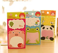 Cute Small Fresh Style Self-Stick Note (Random Color)