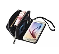 High-Grade Genuine Leather Mobile Phone Holster Full Body Case Shatter-Resistant Case for Samsung Galaxy S6