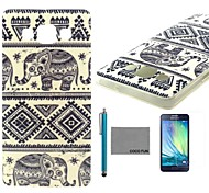 COCO FUN® Blue Elephant Pattern Soft TPU Back Case Cover with Screen Protector and Stylus for Samsung Galaxy A5/A5000