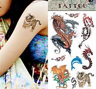 Séries Animal - Love2sis - Tatuagem Adesiva - Non Toxic/Tamanho Grande/Lombar - para Feminino/Masculino/Adolescente - de Papel -