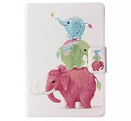éléphant modèle en cuir de cas de tout le corps avec support et fente de carte pour le Kindle d'Amazon paperwhite / paperwhite Kindle 2