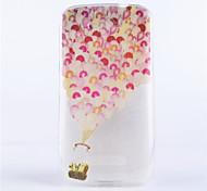 modello palloncino coperture del telefono rilievo dipinto materiale TPU trasparente per Alcatel One Touch pop c7