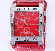 Signorina. grande piazza quadrante pu orologio al quarzo cinturino (colori assortiti)