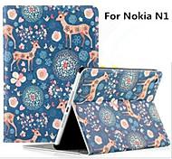 """nokia caso casos n1 tablet com casos stand / corpo inteiro 7.9 """"para nokia n1 estampas animais Sika deer"""