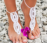 Crochet Barefoot Sandals,Beach Pool Wear,Sexy Accessories, Fashion Accessory,Toe Ring Anklet, Ankle Bracelet(1Pair) Christmas Gifts