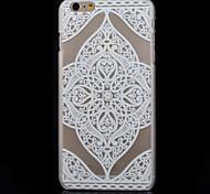 quatre motif de fleurs cas matériel pc impression transparente de téléphone pour iphone 6 plus