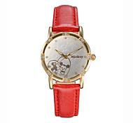 Ladies' Cartoon  Dial Leather Band Japan Quartz Movement Wristwatch