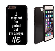 I am Always Me Design 2 in 1 Hybrid Armor Full-Body Dual Layer Shock-Protector Slim Case for iPhone 6 plus