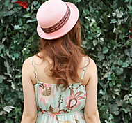 Summer Lace Dome Straw Bowler/Cloche Hat