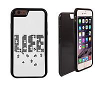 Puzzle des Lebens Muster 2 in 1-Hybrid Rüstung Ganzkörper-Dual-Layer-Schock-Schutz schlanke Fall für iPhone 6 Plus