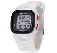 Unisex Personalized Rectangular Silicone Digital Watch(Assorted Colors)
