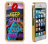 bunt Ihr Leben Design Luxus-Hybrid-bling Funkeln-Schein mit Kristallrhinestone-Kasten für iPhone 5/5 s