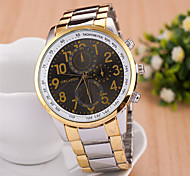 Men's Round Dial Case Alloy Watch Brand Fashion Quartz Watch(More Color Available)