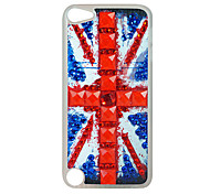 Punk Flag Pattern Rhinestone Jewelry Hard Case for Ipod touch 5