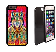 Colorful Wolf Design 2 in 1 Hybrid Armor Full-Body Dual Layer Shock-Protector Slim Case for iPhone 6 Plus