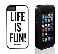 Leben ist Spaßentwurf 2 in 1-Hybrid Rüstung Ganzkörper-Dual-Layer-Schock-Schutz schlanke Fall für iPhone 5/5 s