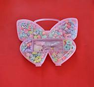 Acrylperlen sortiert Farbe und Form in Schmetterlingsform Kunststoff-Box scherzt Spielzeuggeschenk diy Perlen für Halskette Armband