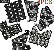 6X10PCS DIY Hollow Shape Manicure Nail Stickers Nail Art Manicure Template Image Stamp