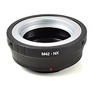 lente mengs® m42-nx adaptador de montaje de material de aluminio del anillo de la lente m42 para Samsung NX10 cuerpo de la cámara NX5