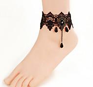 Women Fashion Body Jewelry Gothic Style Charm Vintage Lace Diamonds Anklets