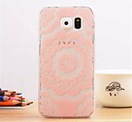 Large pink flower Pattern Dermatoglyph Plastic Hard Back Cover for Samsung Galaxy S6