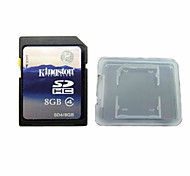Original Kingston Digital 8GB Class 4 SD Memory Card And The Memory Card Box