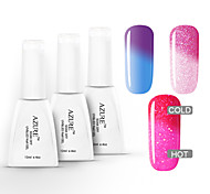 Azure 3 Pcs/Lot Soak-off UV  Gel Color Changing with Temperature Nail Polish (12ml,#37+#38+#39)