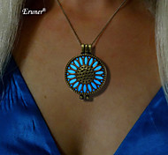 Low In The Dark Pendant Necklace Round Hollow Glowing Jewelry 2015 Product